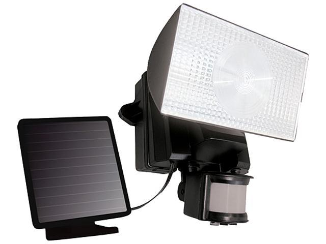Maxsa 40223 Solar-Powered 50 LED Motion-Activated Outdoor Security Floodlight - Black