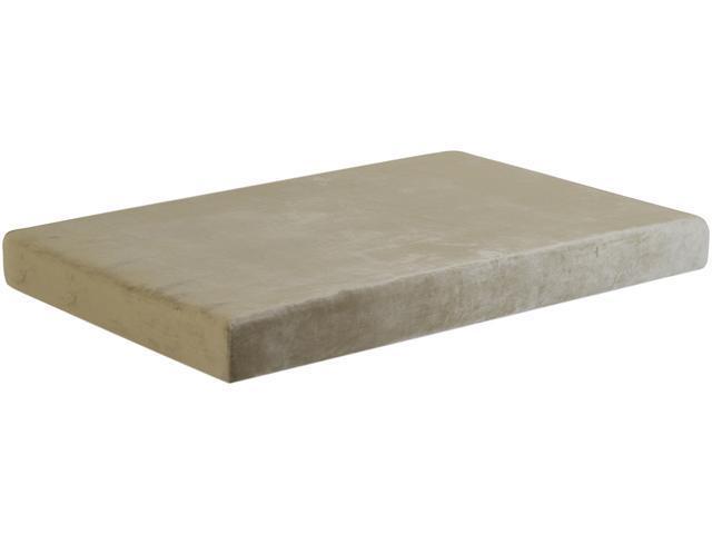 Campus 7 inch Full Size Memory Foam Mattress in Rolling Duffle Bag - Beige