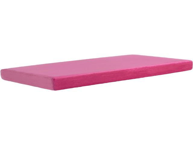 Campus Twin XL Memory Foam Mattress Topper 38 x 77.5 inches, Pink