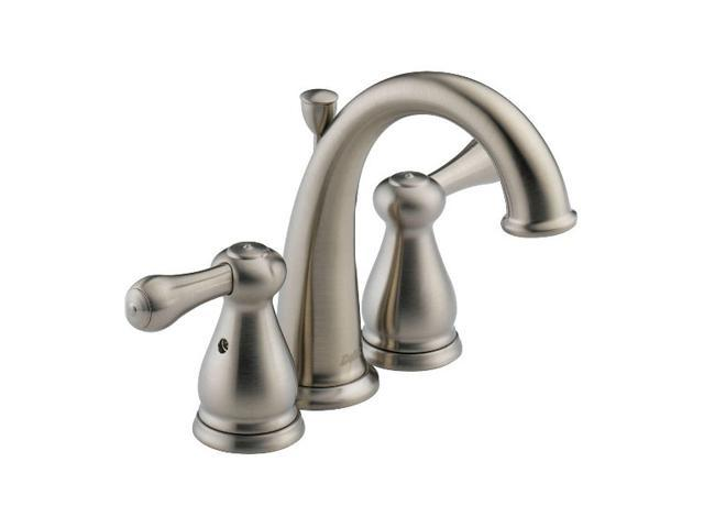 Delta 4575 Ss Leland Two Handle Mini Widespread Lavatory Faucet Stainless Steel Bathroom Faucet