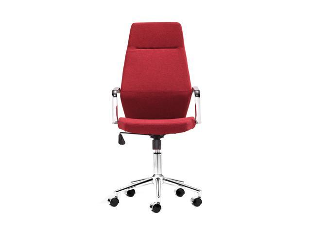 Zuo Modern 205147 Holt High Back Office Chair Red PU