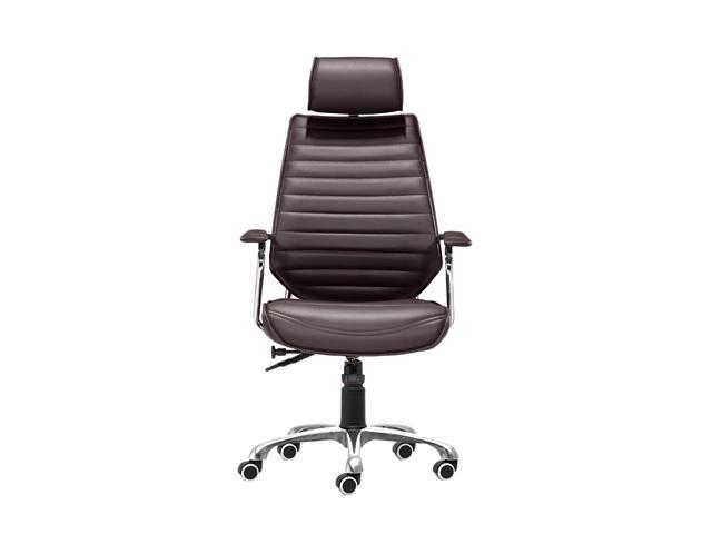 Zuo Modern 205162 Enterprise High Back Office Chair Espresso