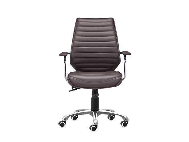 Zuo Modern 205166 Enterprise Low Back Office Chair Espresso