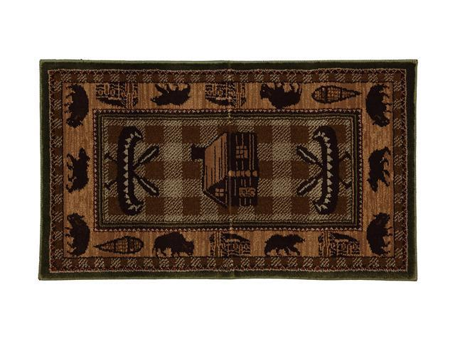 """Mohawk Home Pembroke Winfield 25""""X44"""" Rug Brown 2' x 3' and smaller 9448 86007 025044"""