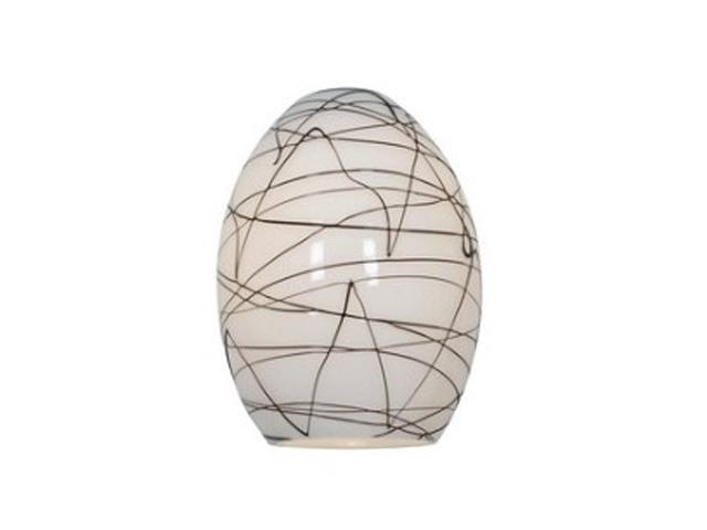 Access Lighting FireBird Ostrich Glass Shade - Black-White Glass 23123-BLWH