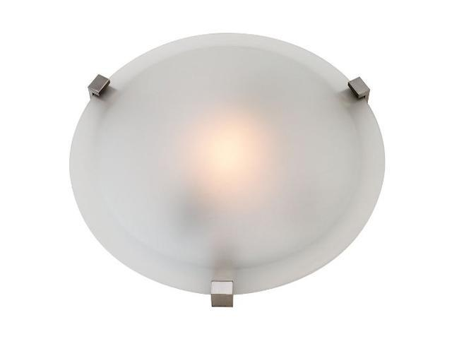 Access Lighting Cirrus 1 Light Satin Finish w/ Frosted Glass Satin Flush Mounts