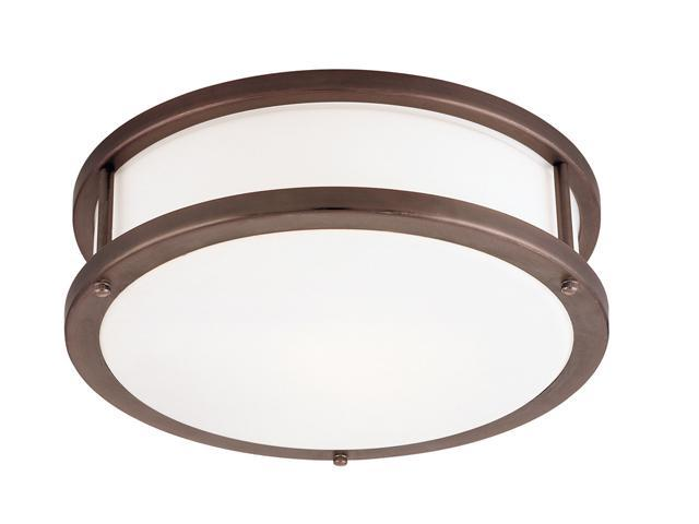 Access Lighting Conga 2 Light Bronze Finish w/ Opal Glass Bronze Flush Mounts