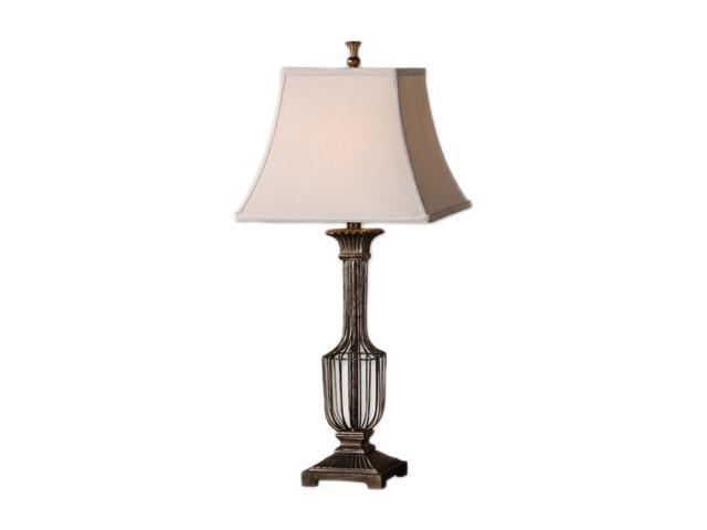 Uttermost Matthew Williams Anacapri Table Lamp Heavily Antiqued Gold Leaf with A Burnished Wash and Champagne Highlights.