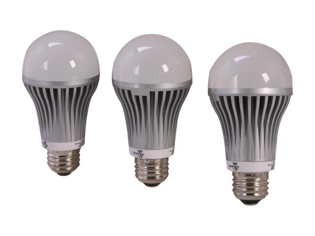 Aluratek ALB10C 75 Watt Equivalent Cool White A19 LED Light Bulb (3 Pack)