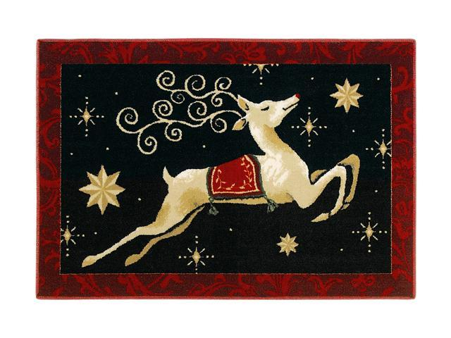 Shaw Living Holiday Collection Dashing Thru the Night Area Rug Multi 2' 7