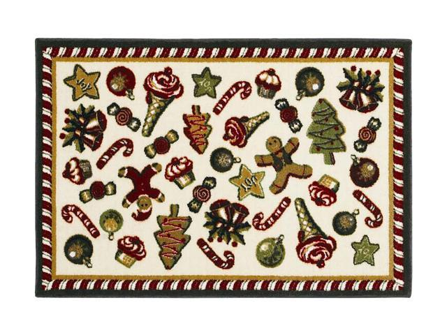Shaw Living Holiday Collection Holiday Sweets Area Rug Multi 2' 7