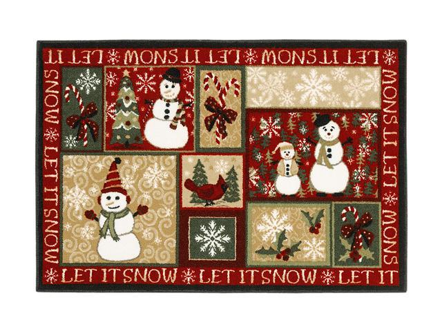 Shaw Living Holiday Collection Let It Snow Area Rug Multi 2' 7