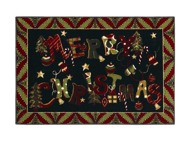 "Shaw Living Holiday Collection Merry Jumble Area Rug Multi 2' 7"" X 3' 10"" 3P17300116XM"