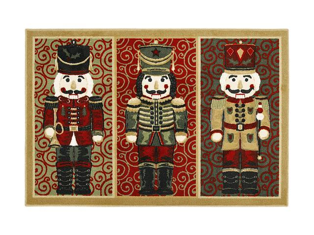 Shaw Living Holiday Collection Nutcrackers Area Rug Multi 2' 7