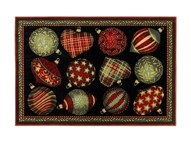 "Shaw Living Holiday Collection Ornaments Area Rug Multi 2' 7"" X 3' 10"" 3P17300107XM"