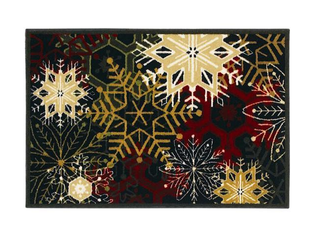 Shaw Living Holiday Collection Snowflakes Area Rug Multi 2' 7