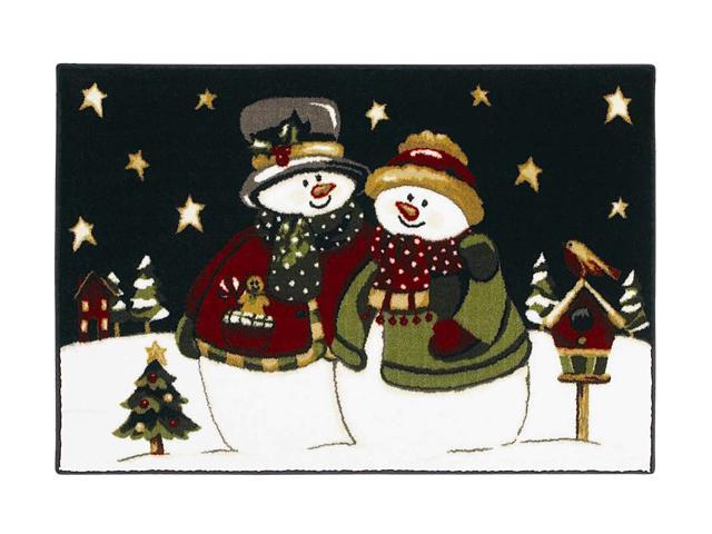 "Shaw Living Holiday Collection Starlight Stroll Area Rug Multi 2' 7"" X 3' 10"" 3P17300114XM"