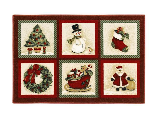 "Shaw Living Holiday Collection Tis the Season Area Rug Multi 2' 7"" X 3' 10"" 3P17300108XM"