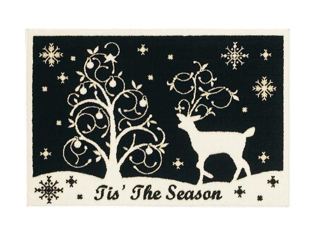 Shaw Living Holiday Collection Winter Night Area Rug Multi 2' 7