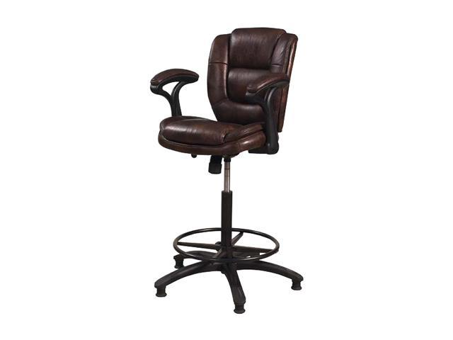 Hillsdale Dawson Brown Upholstered Adjustable Stool