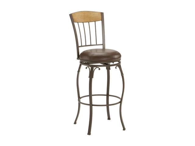 Hillsdale Furniture Lakeview Swivel Bar Stool With Wood Panel Top