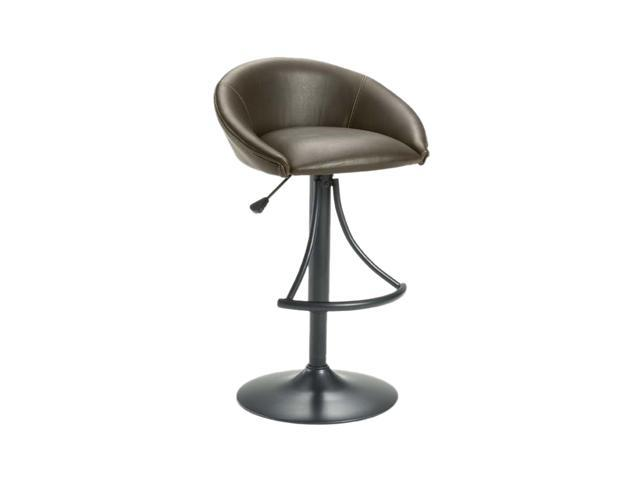 Hillsdale Furniture Oxford Adjustable Swivel Stool with Brown Vinyl