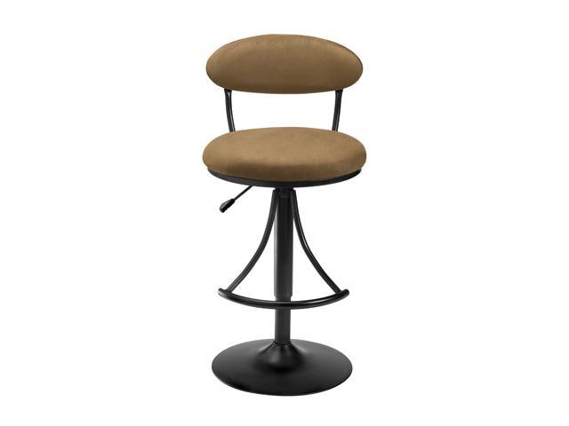 Hillsdale Furniture Venus Adjustable Swivel Bar Stool With Bear (brown) Faux Suede