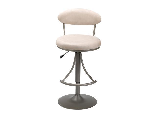 Hillsdale Furniture Venus Swivel Adjustable Barstool in Fawn Microfiber