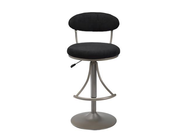 Hillsdale Furniture Venus Adjustable Swivel Bar Stool With Black Faux Suede