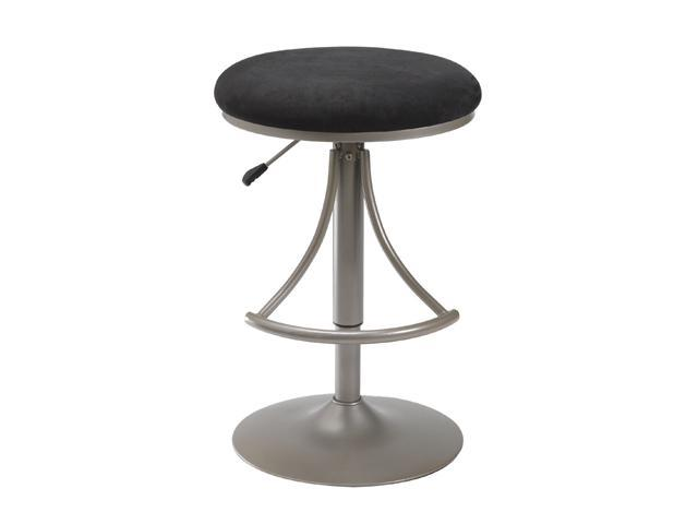 Hillsdale Furniture Venus Backless Adjustable Swivel Bar Stool With Black Faux Suede
