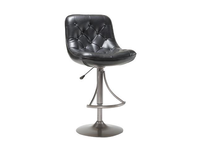 Hillsdale Furniture Aspen Black Adjustable Swivel Barstool