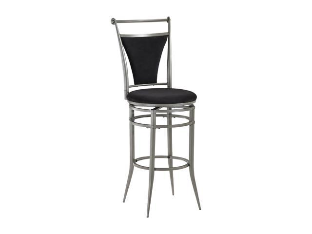 Hillsdale Furniture Cierra Swivel Counter Stool Pewter and Black
