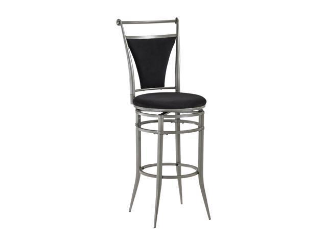 Hillsdale Furniture Cierra Swivel Bar Stool Pewter and Black