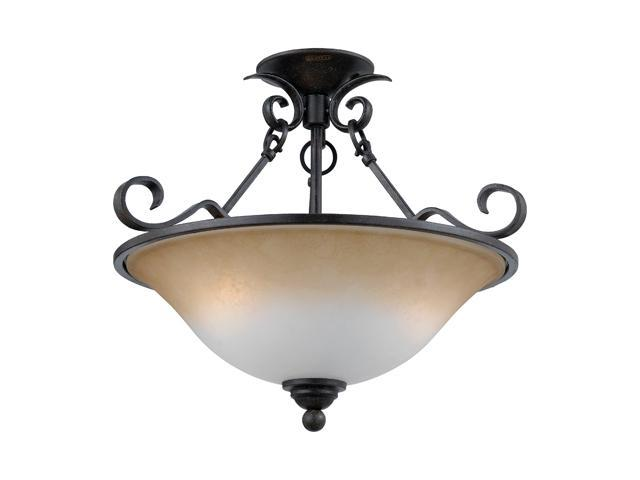 Quoizel Hartford Bronze Jennifer Extra Large Semi Flush Mount