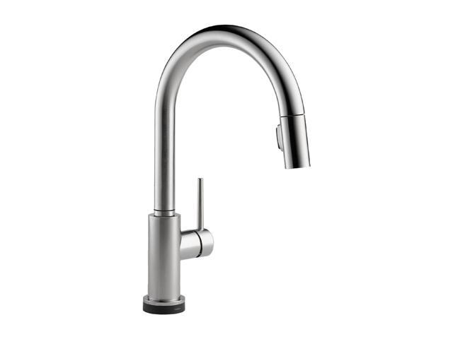DELTA 9159T-AR-DST Single Handle Pull-Down Kitchen Faucet Featuring Touch2O Technology Arctic Stainless