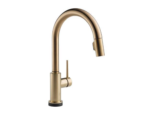 DELTA 9159T-CZ-DST Single Handle Pull-Down Kitchen Faucet Featuring Touch2O Technology Champagne Bronze