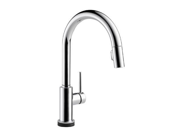 DELTA 9159T-DST Single Handle Pull-Down Kitchen Faucet Featuring Touch2O Technology Chrome