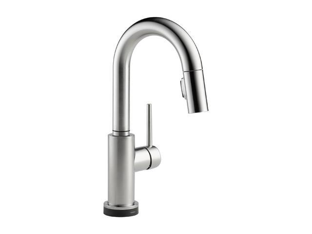 DELTA 9959T-AR-DST Single Handle Pull-Down Bar/Prep Faucet Featuring Touch2O Technology Arctic Stainless
