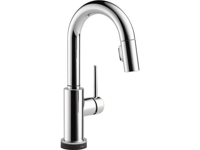 DELTA 9959T-CZ-DST Single Handle Pull-Down Bar/Prep Faucet Featuring Touch2O Technology Champagne Bronze