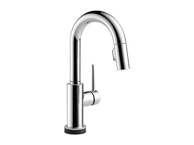 DELTA 9959T-DST Single Handle Pull-Down Bar/Prep Faucet Featuring Touch2O Technology Chrome