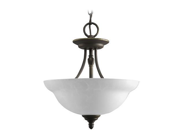 Progress Lighting Antique Bronze 2-Light Semi-Flush