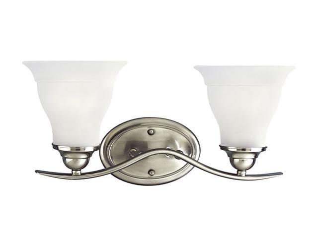 Progress Lighting Brushed Nickel 2-Light Bath Bracket