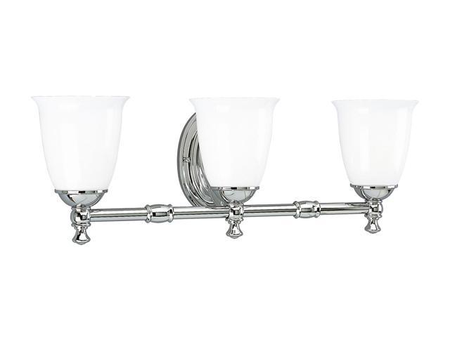 Progress Lighting 3-Light Bath Bracket Polished Chrome 3-Light Bath Bracket