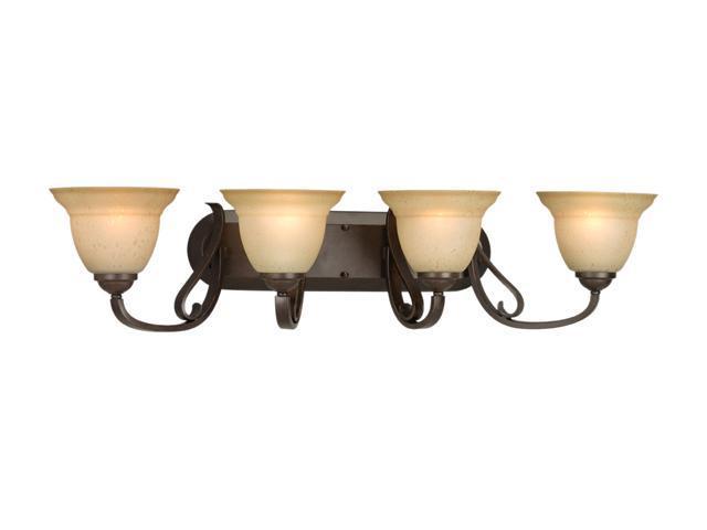 Progress Lighting P2884-77 4-Light Bath Bracket with Tea Stain Etched Glass