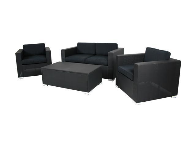 Sinochem Ningbo Black Textilene Sofa Set