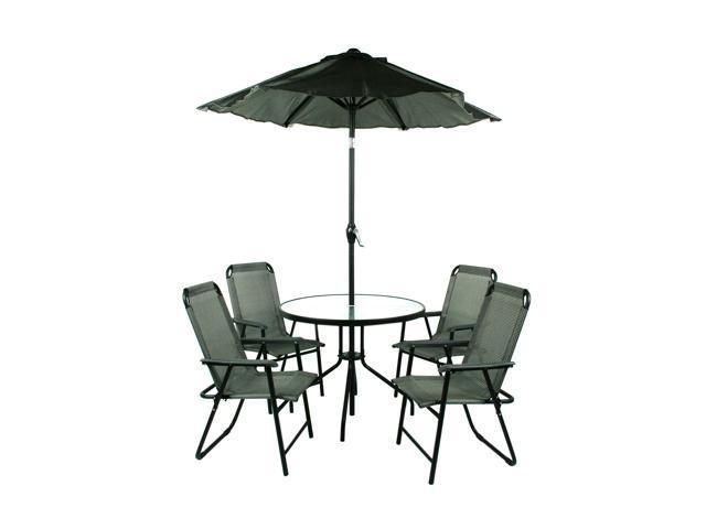 Jiaxing Hero 6 Piece Table, Chair & Umbrella Patio Set