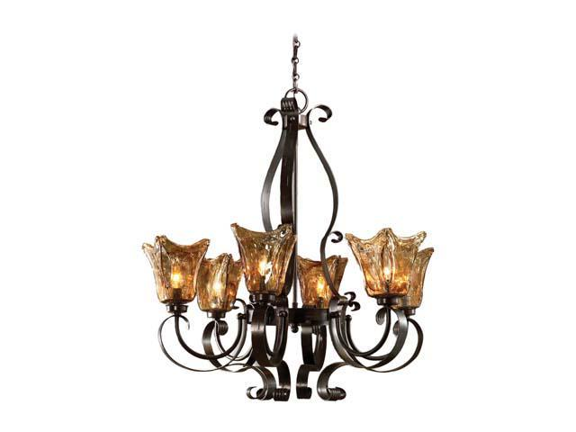 Uttermost Vetraio 6 light Chandelier Oil-rubbed bronze 21006