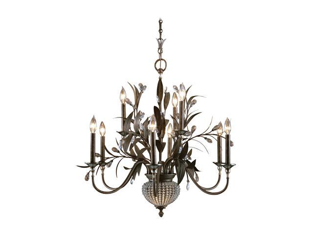 Uttermost Cristal de Lisbon 9+2 Light Chandelier Bronze 21094