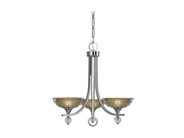 Uttermost Brandon 3 Light Chandelier Nickel 21232