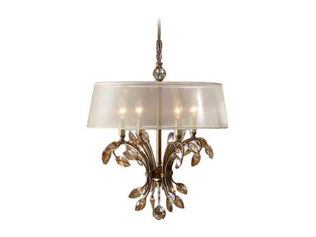 Uttermost Alenya 4 Light Chandelier Gold 21245
